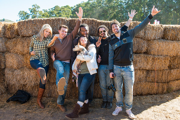 Group shot in the corn maze