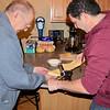 Dad & Lee rolling dough