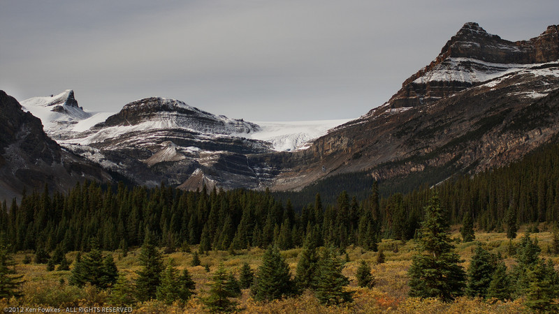 On the road from Banff to Jasper