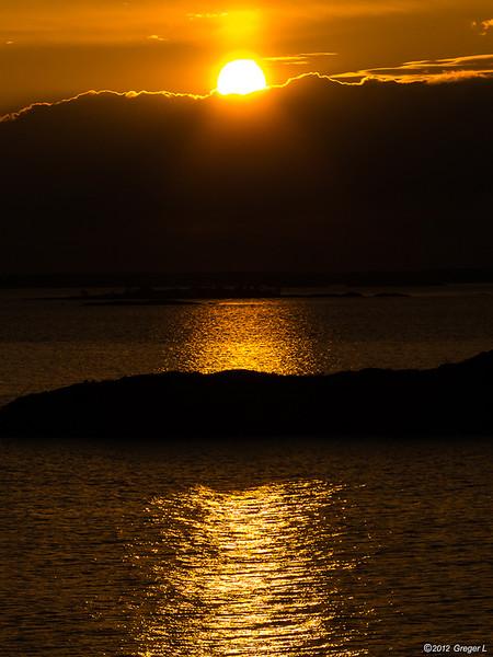Solen på väg ner
