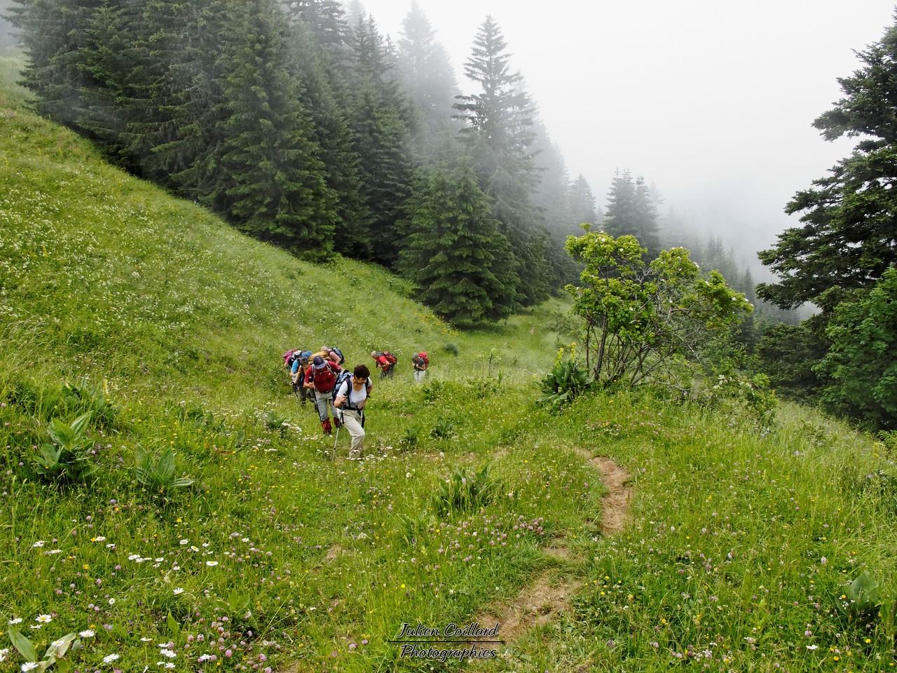 Mont Colombier - Montée au col de la Cochette
