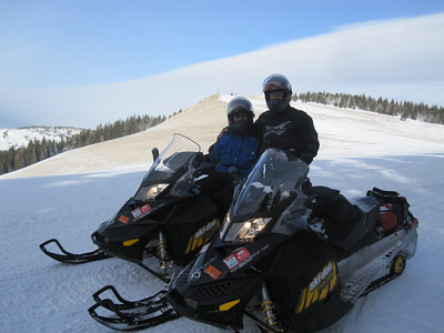 SNOWMOBILE TO BIG HORN MTNS 1/2012