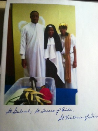 St. Gabriel - Gabriel OnorSt. Teresa of Avila -Adaeze UwaezuokeSt.. Victoria of Tivoli - Foluke Uwaezuoke