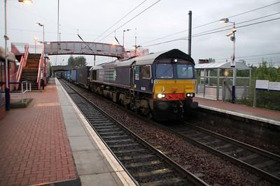 66305 2100/4m30 Grangemouth-Daventry passes Whifflett.