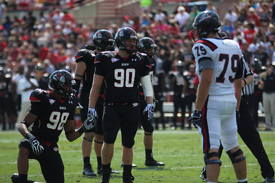 98, Shaquille Riddick and 90, Dylan Taylor prepare to defend Gardner-Webb