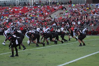 GWU's defensive line.