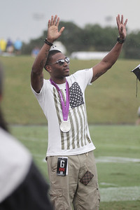 Manteo Mitchell, 2012 Olympic Silver Medalist and Boiling Springs native, visits Gardner-Webb University September 1, 2012
