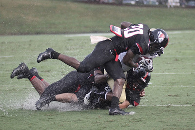 Bobby Clark (20) takes down Wofford