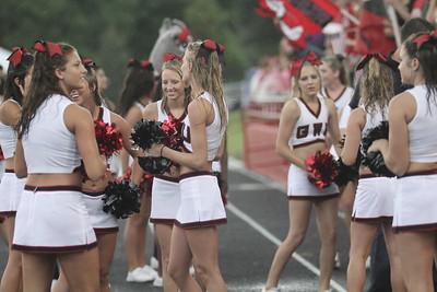 The Gardner-Webb cheerleaders