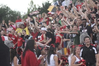 Students and community members still came out to show their love and support for the Runnin' Bulldogs after it poured down rain to delay kick off a mere 15 minutes.