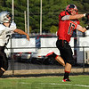 Tribune-Star file<br /> Touchdown: South's #17, Nic Keller hauls in a pass from Danny Etling for his second touchdown of the evening during an August scrimmage against Northview.