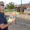 Tribune-Star/Jim Avelis<br /> Checklist: Honey Creek Fire Department chief Jean Frankel looks over her checklist after reports of smoke at Honey Creek Middle School Thursday evening. The school was evacuated while the cause was found was found. No substantial damage or injuries were reported.