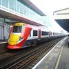 Gatwick Express Class 460 Juniper no. 460002 passing through Clapham Junction.