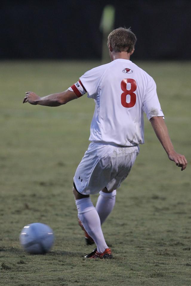 Marius Hammersmark (8) kicks the ball