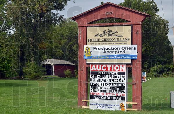 Tribune-Star/Joseph C. Garza<br /> On the auction block: A long time staple of elementary school field trips, Billie Creek Village, near Rockville, is up for sale.