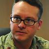 Major: Major Howard talks with Tribune-Star reporter Brian Boyce Friday afternoon.