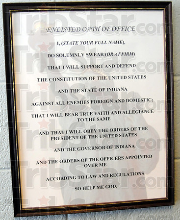 Oath: Detail photo of the enlisted oath of office.
