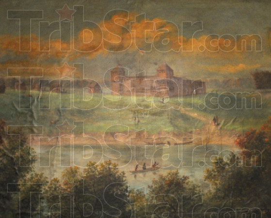 Tribune-Star/Jim Avelis<br /> Treasure: The painting of Ft. Harrison on the banks of the Wabash is the Historical Treasure of the week.