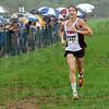Falling rain: South's Jackson Bertoli finishes the boys varsity event of the Terre Haute Savings Bank Invitational Satuday morning in a moderate rain. Bertoli was second in the event with a time of 15:44.5.