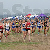 Preview: The girls varsity cross country meet gets underway Satuday morning during a constant light rain at the Gibson Cross Country facility.