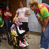 Tribune-Star/Joseph C. Garza<br /> Voice of experience: Deming Elementary Principal Susan Mardis tells second-grader Katelyn Newell of how she tutored another youngster that needed a transplant Friday after school.
