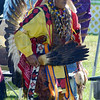 Tribune-Star/Jim Avelis<br /> Dancer: Tim Samaniego, an Apache from Ohio, was the Head Man Dancer at the Gathering of the People Saturday at the Vigo County Conservation Club. The event continues through Sunday and is open to the public.