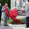 Tribune-Star/Jim Avelis<br /> Viola: Robert Coons, interim president at Rose-Hulman Institute of Technology, unveils the sign for the Branam Innovation Center.