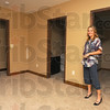 Tribune-Star/Jim Avelis<br /> Plenty of room: Natalie Overton stands in one of the upstairs bedrooms of the house at 815 North 6th they renovated.