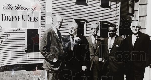 Tribune-Star/Jim Avelis<br /> From the left: Norman Thomas, Pat Gorman, Sam Pollack,  Hilton E. Hanna and Charles Sturgeon.