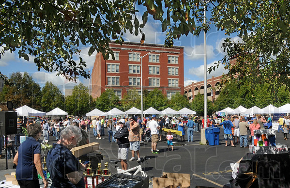 Hundreds of people attended Saturday's annual Chili Cook-off in downtown Terre Haute. The corporate winner of the event was Clabber Girl GFS. (AP Photo/Tribune-Star, Bob Poynter)