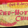 Chili sign: Detail photo of Don and Jerry's Red-Hot Chili sign.