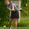 Tribune-Star/Joseph C. Garza<br /> Home course advantage?: Northview golfer Keirsten Mikesell tees off from the third hole at Forest Park Saturday during the girls' golf sectional in Brazil.