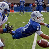 Tribune-Star/Joseph C. Garza<br /> Denied: Indiana State's Mark Sewall blocks a pass intended for a Drake receiver during the Sycamores' win Saturday at Memorial Stadium.