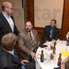 Tribune-Star/Joseph C. Garza<br /> Meet and greet: John Gregg, former Indiana House Speaker and Democrat candidate for Indiana governor, greets Carpenters Local 133 members Greg Tucker, John McCoy, Chris Phillips and Curtis Howard Monday at the Holiday Inn before the start of the Labor Day banquet.