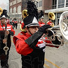 Tribune-Star/Joseph C. Garza<br /> In step: Members of the Terre Haute South Marching Band perform during Monday's Labor Day Parade on Wabash Avenue.