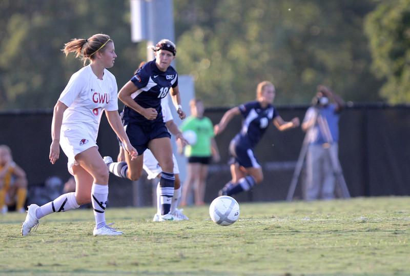 Megan Curan (8) dribble's the ball down the field