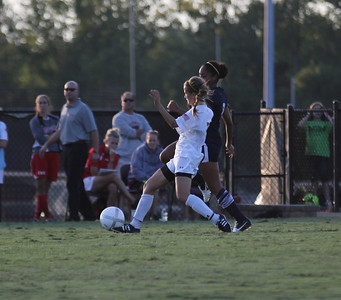 Gardner-Webb womens soccer team tries to keep the ball away from Charleston Southern.