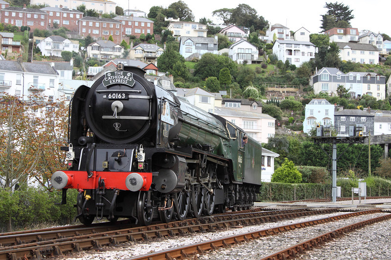 30 September 2012 :: LNER A1 Class 4-6-2 No 60163 Tornado at Kingswear preparing to work the return leg of the Cathedrals Express to Maidenhead