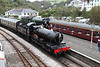 30 September 2012 :: GWR 4-6-0 No 7827 Lydham Manor arriving at Kingswear with 60163 Tornado in the adjacent platform after arriving with a Cathedrals Express from Maidenhead