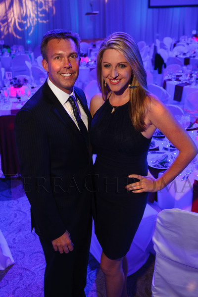 "Chad Graves and Amelia Earhart.  The 2012 Illumination Gala, themed ""Trip the Light Fantastic"" and benefiting the Auraria Library, at The Denver Center for the Performing Arts, Seawell Ballroom, in Denver, Colorado, on Friday, Sept. 7, 2012.<br /> Photo Steve Peterson"