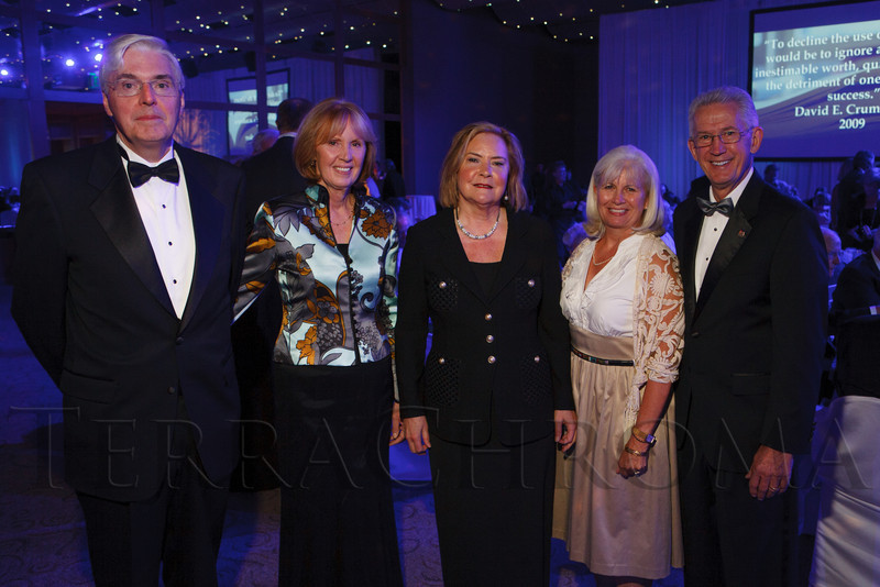 "Rod and Morag Nairn, Mary Somerville, and Ruthie and Stephen Jordan.  The 2012 Illumination Gala, themed ""Trip the Light Fantastic"" and benefiting the Auraria Library, at The Denver Center for the Performing Arts, Seawell Ballroom, in Denver, Colorado, on Friday, Sept. 7, 2012.<br /> Photo Steve Peterson"