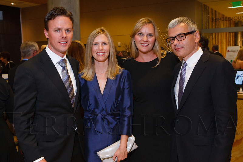 "Jerry and Julie Buck with Christine Buck and Tony Grbavac.  The Rocky Mountain MS Center Annual Gala, themed ""Making MS History,"" at the Colorado History Museum in Denver, Colorado, on Saturday, Sept. 8, 2012.<br /> Photo Steve Peterson"