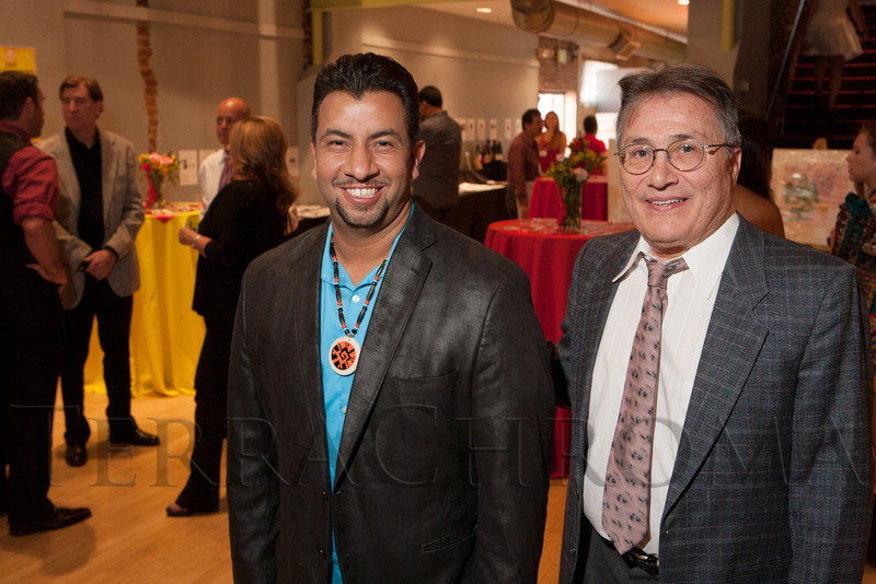 Paul Lopez (honorary chair) and George Martinez (board of trustees chair).  Rojo Cancion, a benefit for Museo de las Americas, at Su Teatro in Denver, Colorado, on Friday, Sept. 14, 2012.<br /> Photo Steve Peterson