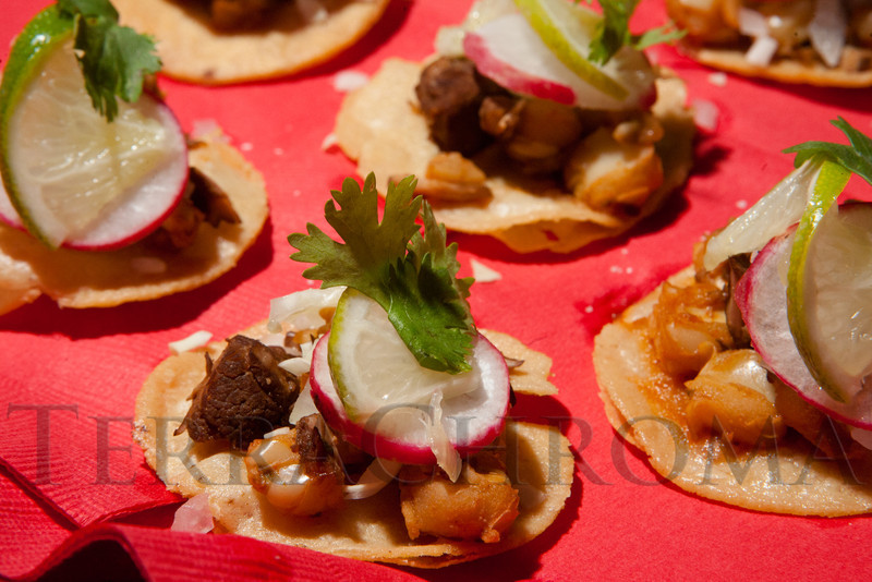 A posole appetizer from El Chingon.  Rojo Cancion, a benefit for Museo de las Americas, at Su Teatro in Denver, Colorado, on Friday, Sept. 14, 2012.<br /> Photo Steve Peterson