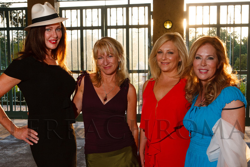 Kathleen Rowland, Dora Silver, Terri Barnes, and Jill Farquhar.  Havana Nights, a benefit for Children's Law Center, at the Denver City Park Pavilion in Denver, Colorado, on Saturday, Sept. 15, 2012.<br /> Photo Steve Peterson