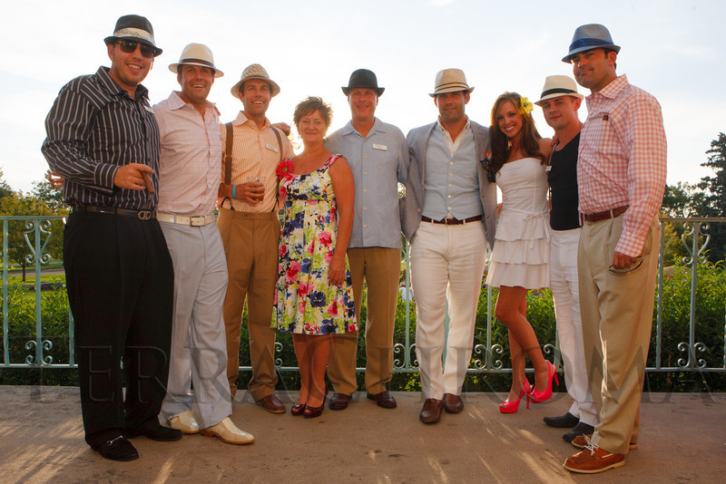 CLC board of directors members:  Nick Hamilton, Cory Phillips, Chris Phillips, Shari Shink, Will La Bahn, Taylor Swallow, Jessica Dehn, Zach Sechler, and Parker Rothhammer.  Havana Nights, a benefit for Children's Law Center, at the Denver City Park Pavilion in Denver, Colorado, on Saturday, Sept. 15, 2012.<br /> Photo Steve Peterson