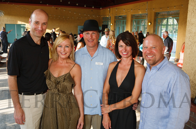 Jeff Nafus, Mary Shay, Will La Bahn, Kelli Christensen, and Craig Crescas.  Havana Nights, a benefit for Children's Law Center, at the Denver City Park Pavilion in Denver, Colorado, on Saturday, Sept. 15, 2012.<br /> Photo Steve Peterson