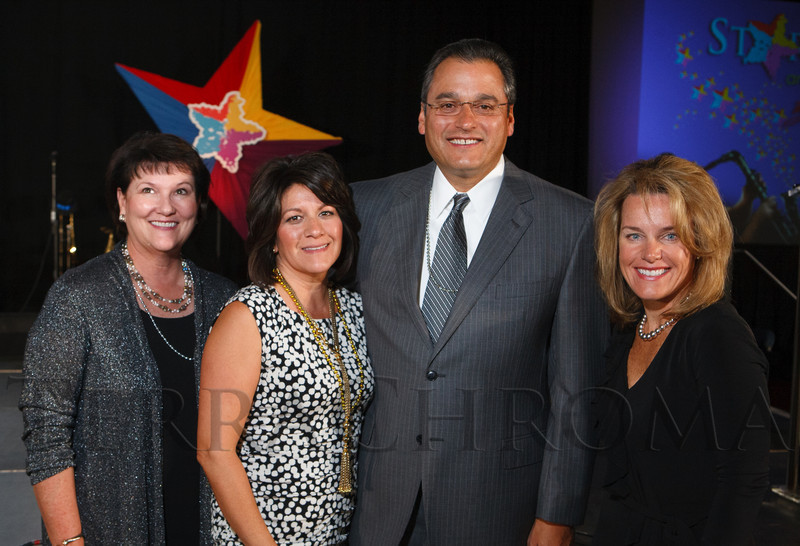With Safeway:  Debbie Portwood, Mea and Al Duran, and Kris Staff.  Starfish and Dreams 'n All That Jazz gala, benefiting Arc Thrift Stores, at the Gold Crown Field House in Lakewood, Colorado, on Friday, Sept. 21, 2012.<br /> Photo Steve Peterson