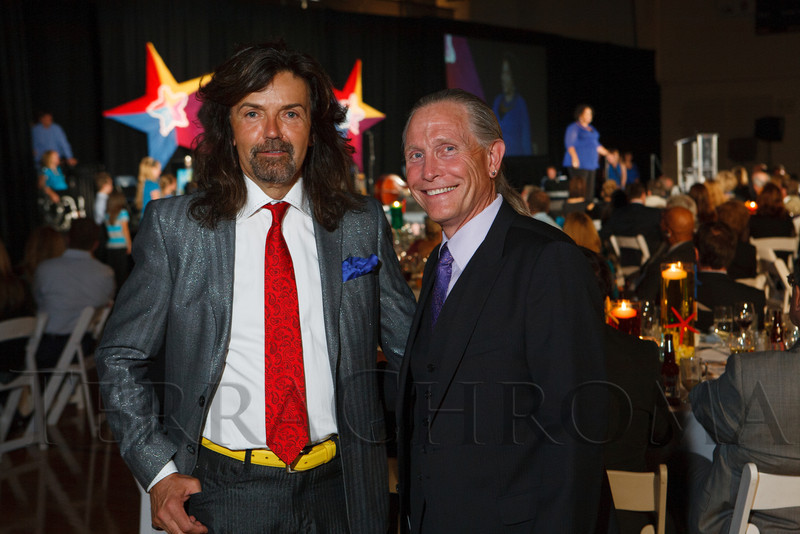 Event chairs Gregory Sargowicky and Lawrence French.  Starfish and Dreams 'n All That Jazz gala, benefiting Arc Thrift Stores, at the Gold Crown Field House in Lakewood, Colorado, on Friday, Sept. 21, 2012.<br /> Photo Steve Peterson