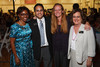 Darla Stuart, Dan Pabon, Rhonda Fields, Morgan Carroll, and Evie Hudak.  Starfish and Dreams 'n All That Jazz gala, benefiting Arc Thrift Stores, at the Gold Crown Field House in Lakewood, Colorado, on Friday, Sept. 21, 2012.<br /> Photo Steve Peterson